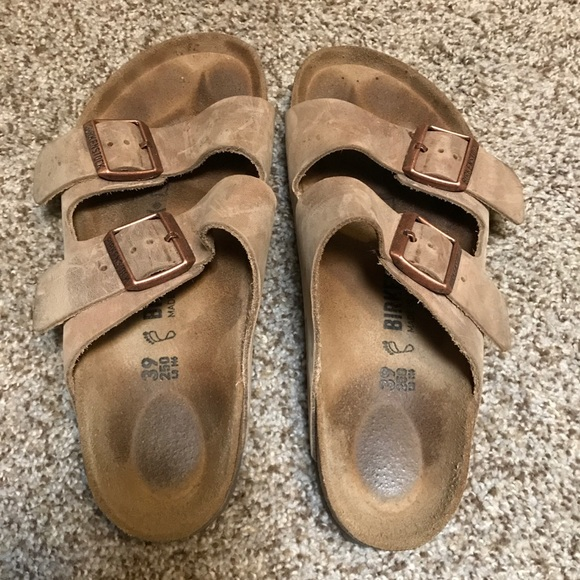 Arizona birkenstocks tobacco oiled leather